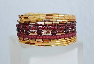 Náramky - Náramok červený granát - 13095339_