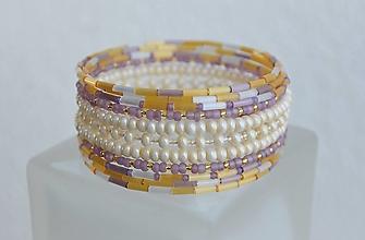 Náramky - Náramok perleťový s vôňou levandule - 13095926_