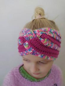 Detské čiapky - Háčkovaná čelenka dievčenská - 13095665_