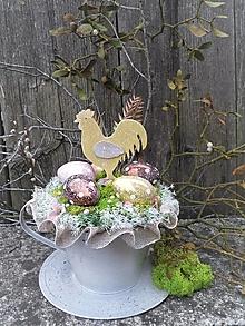 Dekorácie - Veľkonočná dekorácia s kohútikom - 13102504_