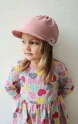 """Detské čiapky - Čiapka """"ULIČNÍČKA"""" - ružová so zlatou potlačou púpav - 13100722_"""