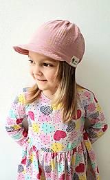 """Detské čiapky - Čiapka """"ULIČNÍČKA"""" - ružová so zlatou potlačou púpav - 13100732_"""