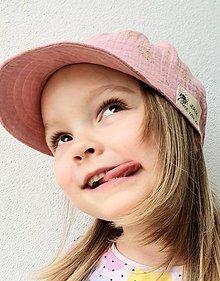 """Detské čiapky - Čiapka """"ULIČNÍČKA"""" - ružová so zlatou potlačou púpav - 13100729_"""