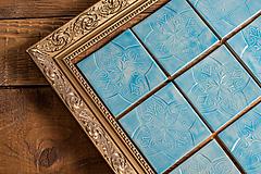 Dekorácie - Keramické kachličky so vzorom - 13103170_