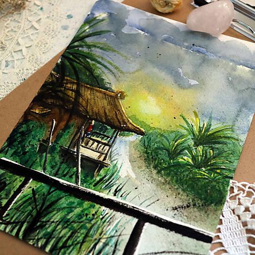 Pri ramene/ akvarelový originál by Richie Bumpkin