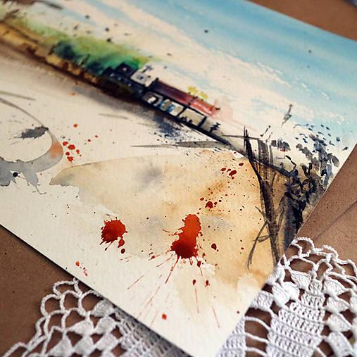 Opustené miesto/ akvarelový originál by Richie Bumpkin