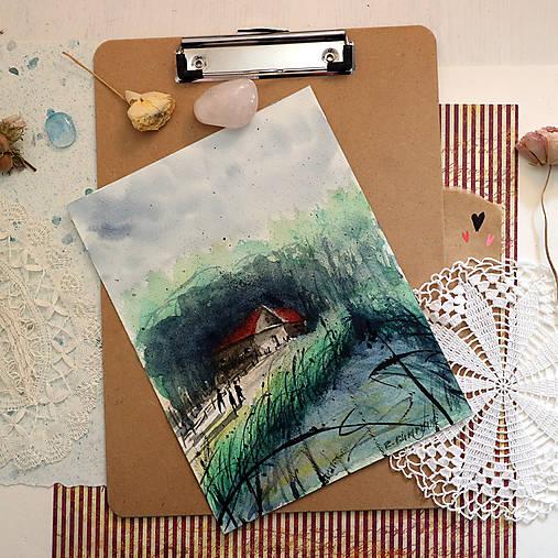 Po víkende/ akvarelový originál by Richie Bumpkin