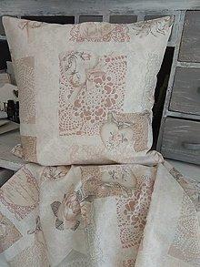 Úžitkový textil - Vankúš romantika - 13102837_