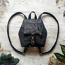 Batohy - Ruksak CANDY backpack - čierna s matným leskom - 13101251_
