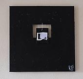 Obrazy - behind . fotografia všitá do plátna . akryl, foto . - 13099781_