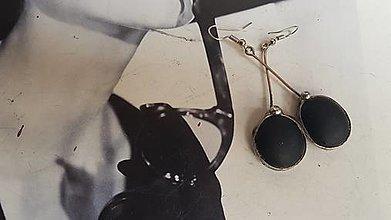 Náušnice - Náušnice,  Black - 13102058_