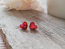 Náušnice - Swarovski astral pink heart - 13102706_