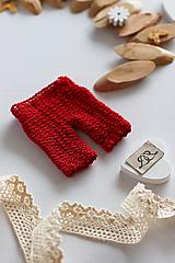 Hračky - Doplnky pre bábiku. Červené nohavice - 13103265_
