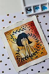 Kresby - Inkognito - originál maľba - 13102229_