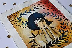 Kresby - Inkognito - originál maľba - 13102230_