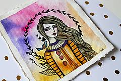 Kresby - Spev jari - originál maľba - 13102270_