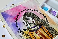 Kresby - Spev jari - originál maľba - 13102274_