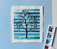 Kresby - Iba jeden strom II. - originál maľba - 13102492_