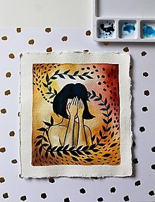 Kresby - Inkognito - originál maľba - 13102228_