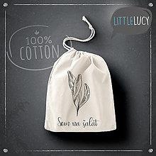 Úžitkový textil - Vrecko LiLu - listy - 13101655_
