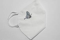 Rúška - Návlek na respirátor FFP2 - motýľ (s drôtikom aj s antibakt. bavlnou) - 13098902_