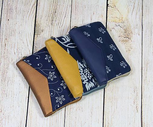 modrotlačová peňaženka na zips Miša 1