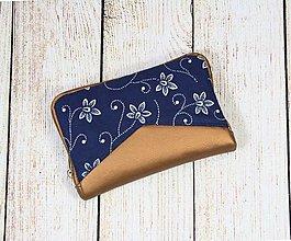 Peňaženky - modrotlačová peňaženka na zips Miša 1 - 13101590_