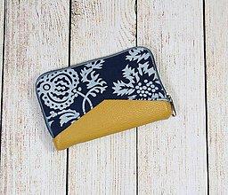 Peňaženky - modrotlačová peňaženka na zips Miša 2 - 13101599_
