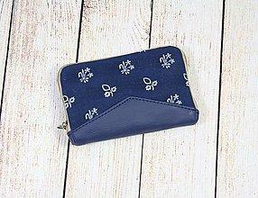 Peňaženky - modrotlačová peňaženka na zips Miša 3 - 13101626_