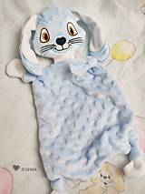 Hračky - Mojkáčik modrý zajačik - 13100107_
