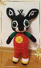 Hračky - Háčkovaný zajačik BING - 13099363_