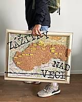 Obrazy - Upcyklovaná cestovateľská mapa ´Zážitky nad veci´ - 13098860_