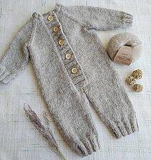Detské oblečenie - Overal Hugo merino, alpaka, hodváb - 13100072_