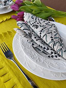 Úžitkový textil - Ľanový obrúsok Lavender Beauty - 13102296_