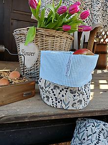 Úžitkový textil - Ľanový košík Lavender Beauty - 13102321_