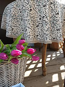 Úžitkový textil - Ľanový obrus Lavender Beauty - 13102376_