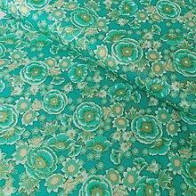 Textil - Bavlnená látka Florentine Garden Jade - 13106375_