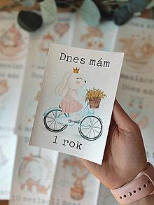 Detské doplnky - Mílnikové kartičky sloník ružové zvieratka - 13103873_