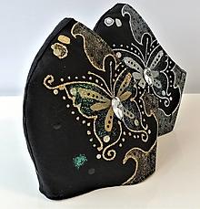 Rúška - RÚŠKO ručne maľované - Motýľ III. - 13105487_