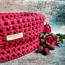 Košíky - Berry   štýlový háčkovaný košík - 13107491_