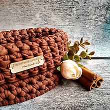 Košíky - Cinnamon | malý háčkovaný košík - 13107723_