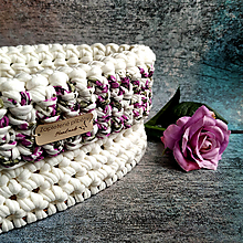 Košíky - Amore Mio   štýlový háčkovaný košík - 13107733_