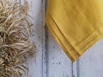 Úžitkový textil - Ľanové utierky plisé Mango - 13103615_