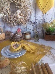 Úžitkový textil - Ľanové utierky plisé Mango - 13103632_