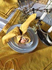 Úžitkový textil - Ľanové prestieranie plisé Mango - 13103682_