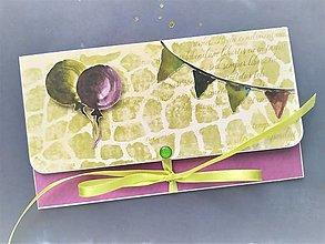 Papiernictvo - Obálka na peniaze - 13105737_