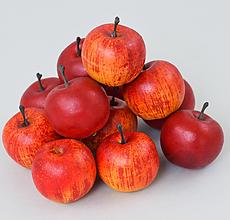 Iný materiál - umelohmotná dekorácia-jabĺčko 12cm/5ks - 13104628_