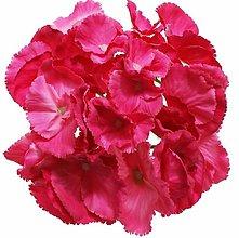 Iný materiál - umelý kvet-hlavička hydrangea 16cm (Ružová) - 13105518_