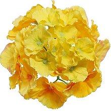 Iný materiál - umelý kvet-hlavička hydrangea 16cm (Žltá) - 13105524_