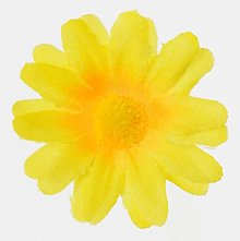 Iný materiál - umelý kvet-hlavička 4cm / 10ks (Žltá) - 13105581_